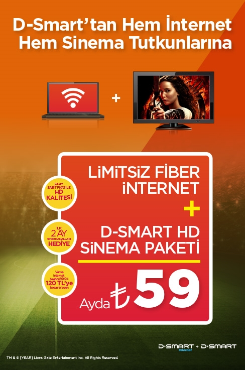 D-Smart Fiber İnternet ve Sinema Paketinde Büyük HD ...