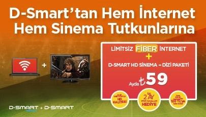 D-Smart Fiber İnternet ve Sinema - Dizi  Paketinde Büyük HD Fırsatı!