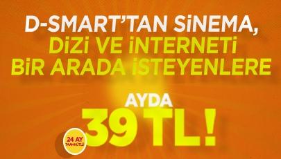 39 TL'ye D-Smart HD Sinema-Dizi ve İnternet Fırsatı!
