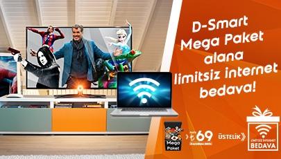 D-Smart Mega Paket alana limitsiz internet bedava!