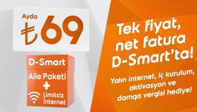 Tek fiyat, net fatura D-Smart'ta!