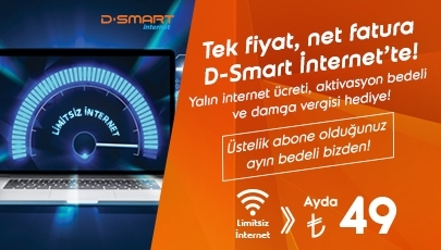 Tek fiyat, net fatura D-Smart İnternet'te!