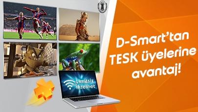 TESK Üyelerine Özel Avantajlı D-Smart ve İnternet Keyfi!
