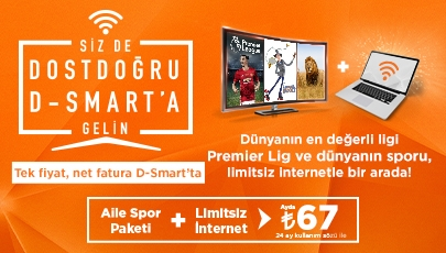 D-Smart Dünyası ve sınırsız internet bir arada, çok daha uygun fiyata!