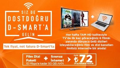 Film Dizi Paketi + Limitsiz İnternet Bir Arada!